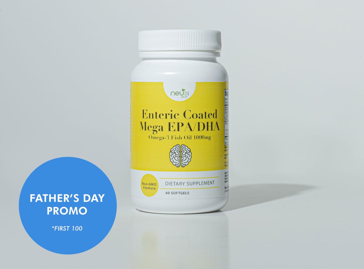 Enteric coated mega EPa/DHA omega 3 fish oil